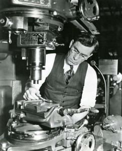 John Garand in his shop