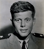 Future president John F. Kennedy as a lieutenant, junior grade, USNR, 1944.