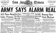 "The ""Battle of LA"" made the headlines in February 1942."