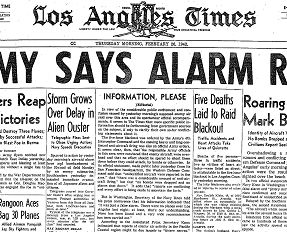 """The """"Battle of LA"""" made the headlines in February 1942."""