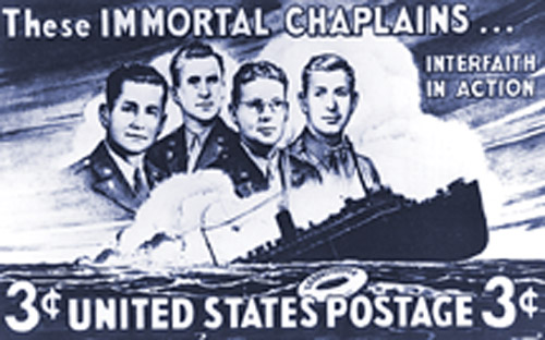 Four chaplains stamp