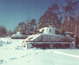 US tank in the snow