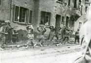 German POWs being marched through Geilenkirchen