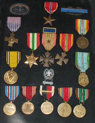 Medals of Sergeant Sylvester Eli Barbu of the 82nd Airborne Division