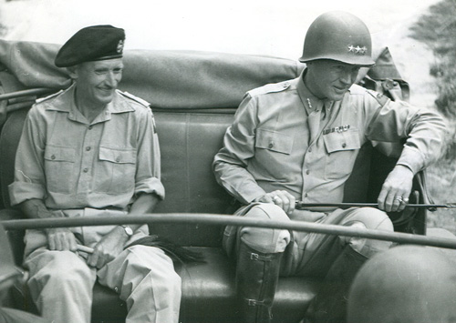 Patton and Bernard Montgomery on the way to Palermo