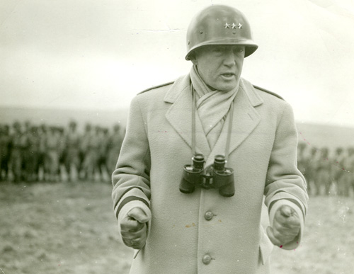 Patton rallying troops in Northern Ireland