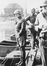 Patton stops to urinate in the Rhine