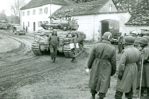 Patton and a tank from the 14th Armored Division