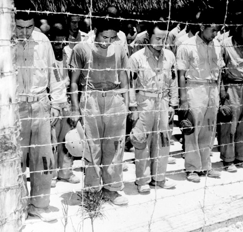 Japanese POWs on Guam bow to news of the surrender