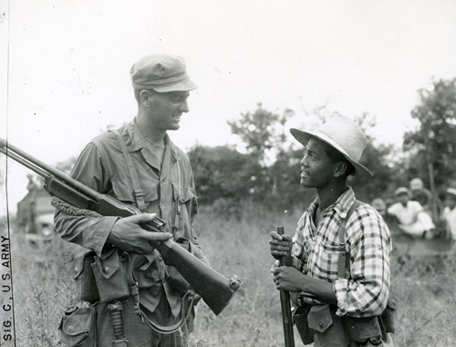 US Sixth Army ranger and Filipino guerrilla