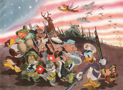 Disney volunteer army illustration for Coronet magazine