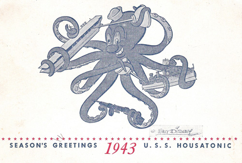 USS Houstanic holiday card