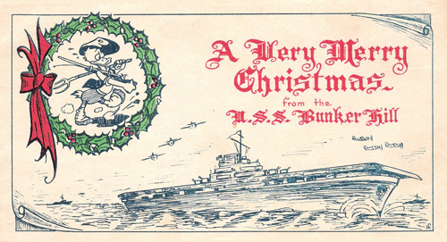 USS Bunker Hill Christmas card