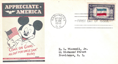 Mickey Mouse envelope