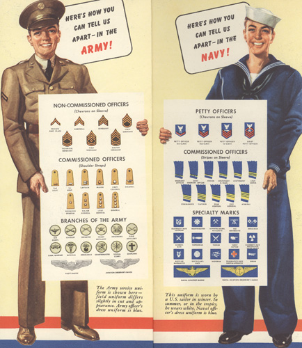 Greyhound army and navy ranks ad