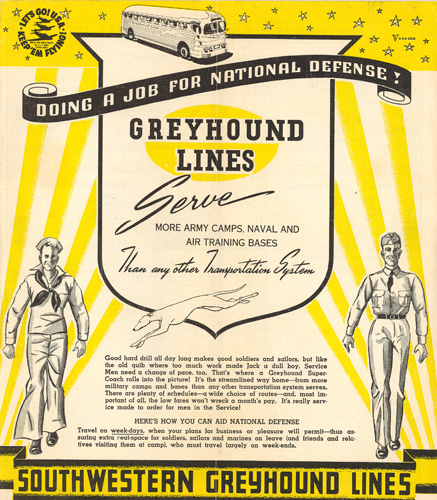 Greyhound national defense ad
