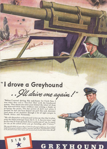 Greyhound tank buster ad
