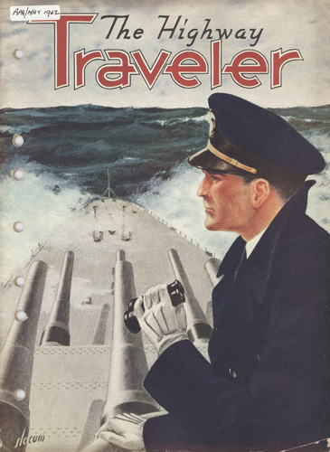 Greyhound Highway Traveler magazine navy cover