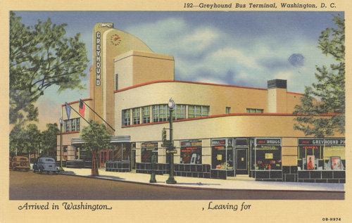 Greyhound terminal illustration