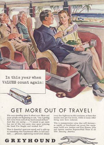 Greyhound bus travel ad