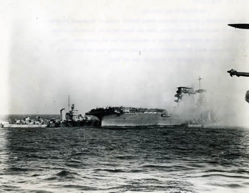 USS Lexington in the Coral Sea