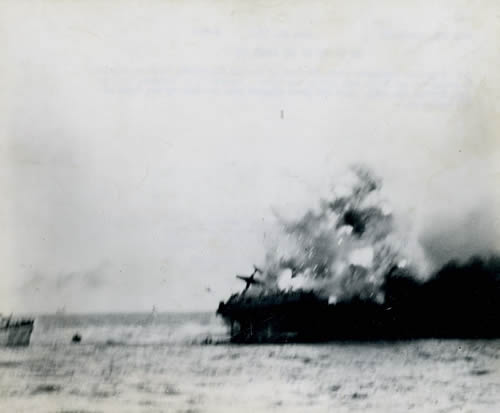 USS Lexington explosion