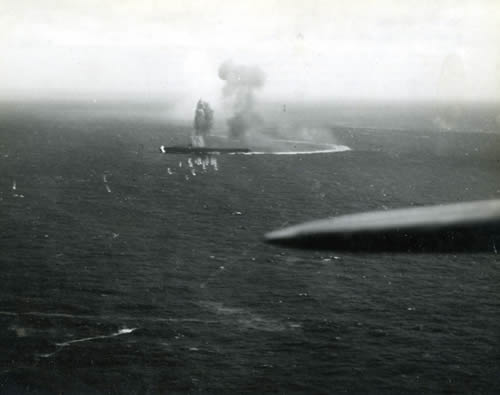 Japanese carrier Shoho in the Coral Sea
