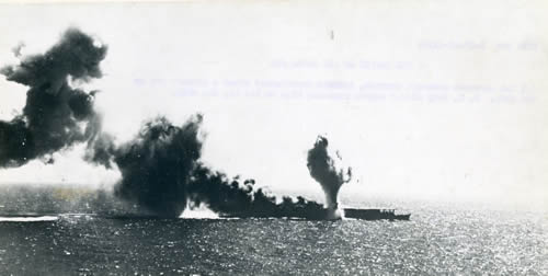 Japanese carrier Shokaku in the Coral Sea