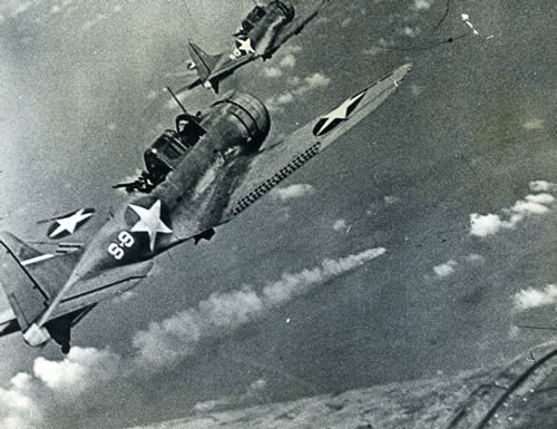 Dauntlesses in the Battle of Midway