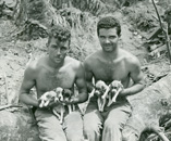 Marines with puppies